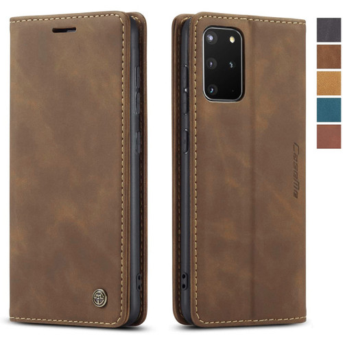 Brown Galaxy S20 CaseMe Wallet Vintage Retro Magnetic Phone Case - 1