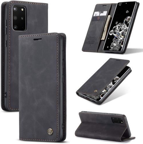 Black Galaxy S20+ Plus CaseMe Wallet Classic Magnetic Handmade Case - 1