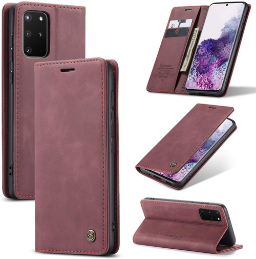 Classy Wine Galaxy S20+ Plus CaseMe Wallet Magnetic Card Holder Case - 1