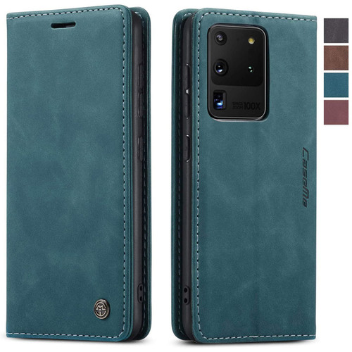 Blue Galaxy S20 Ultra CaseMe Wallet Classic Magnetic Closure Case - 1