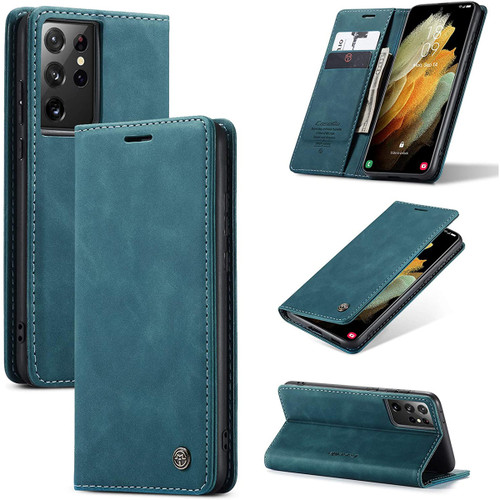 Blue Galaxy S21 Ultra 5G CaseMe Samsung Classic Folio Wallet Case - 1