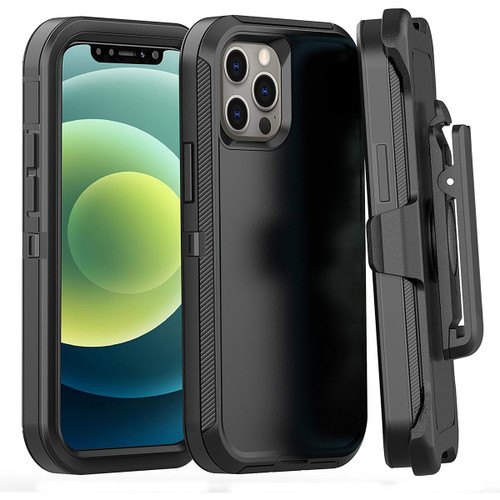Military Grade Shock Proof Holster Case For Apple iPhone 12 Pro Max - 1