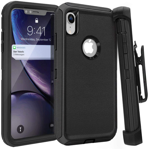 Tough Military Grade Drop Proof Holster Belt Clip Case For iPhone XR - 1