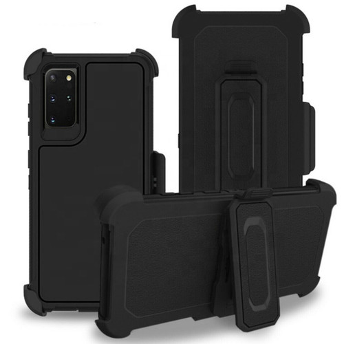 Black Galaxy S20 Full Body Rugged Shockproof Military Grade Tough Case - 1