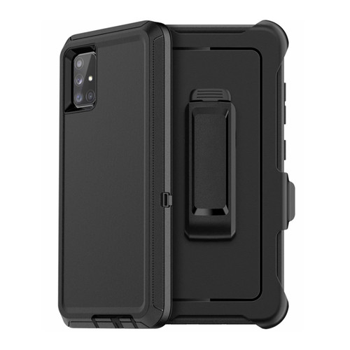 Samsung Galaxy A51 Military Rugged Shock Proof Belt Clip Holster Case - 1