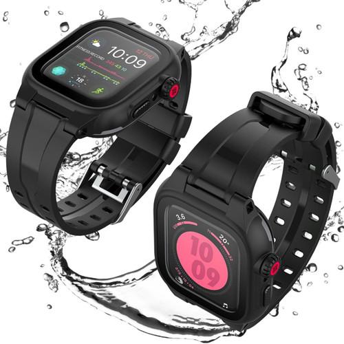 Apple Watch 4/5/6/SE (44MM) Waterproof Dirtproof Snow Proof Case + Band - 1