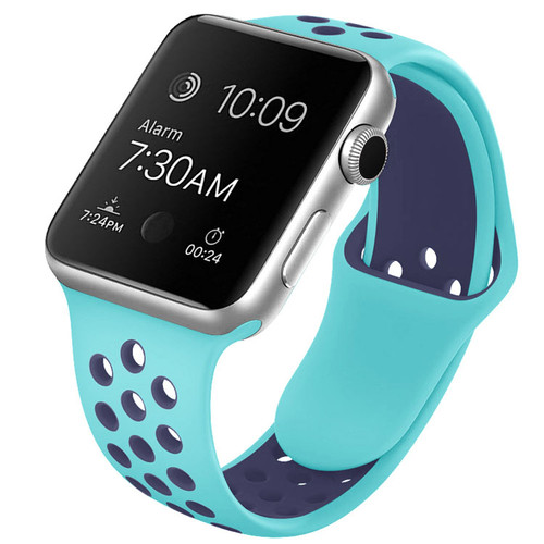 Light / Dark Blue Apple Watch 1/2/3/4/5/6/SE (38mm, 40mm) M/L Sports Loop Band - 1