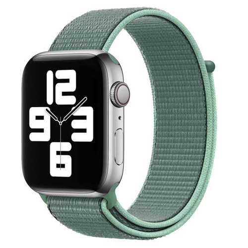 Green Woven Nylon Band For Apple Watch (38mm, 40mm) 1/2/3/4/5/6/SE
