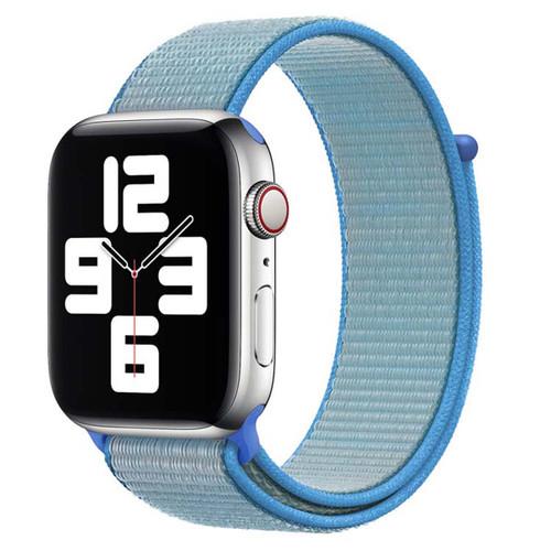 Sky Blue Apple Watch (38mm, 40mm) Woven Nylon Sports Band / Strap