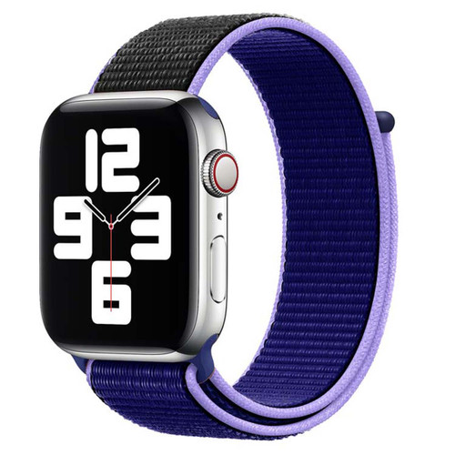 Purple Woven Nylon Sports Band / Strap For Apple Watch (38mm, 40mm)
