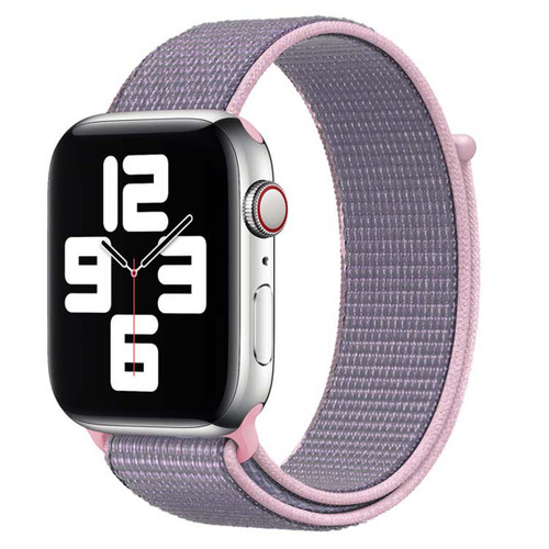 Pink/Purple Apple Watch (38mm, 40mm) Woven Nylon Sports Band