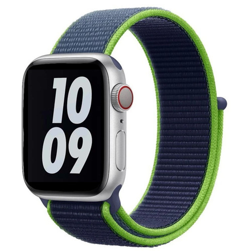 Neon Lime Apple Watch (38mm, 40mm) Woven Nylon Sports Band Series 1/2/3/4/5/6/SE
