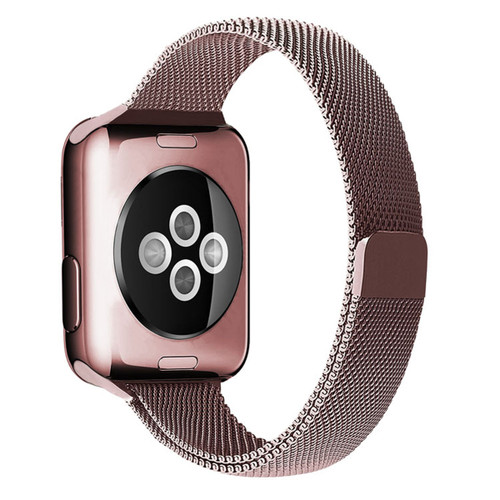 Rose Pink Slim Milanese Magnetic Band For Apple Watch (38mm, 40mm) Series 1/2/3/4/5/6/SE - 1