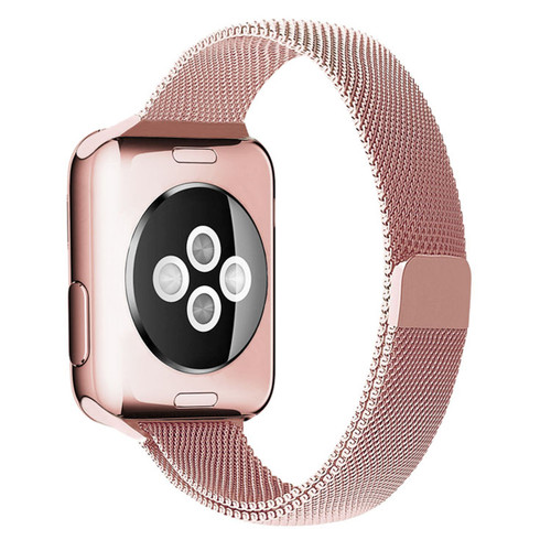Pink Apple Watch (42mm, 44mm) Slim Milanese Magnetic Band For Series 1/2/3/4/5/6/SE - 1