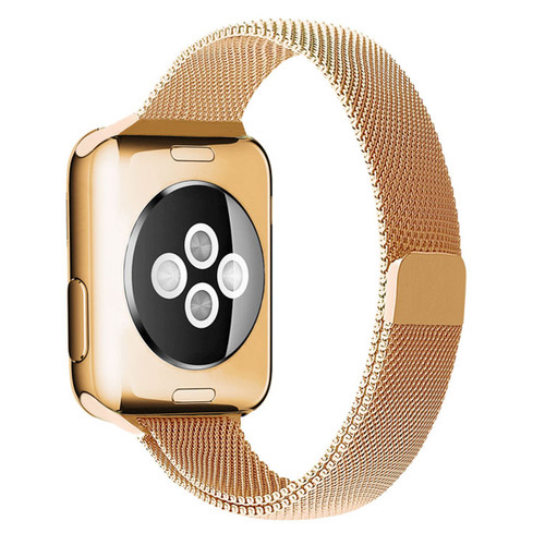 Rose Gold Slim Milanese Band For Apple Watch (42mm, 44mm) Series 1/2/3/4/5/6/SE - 1