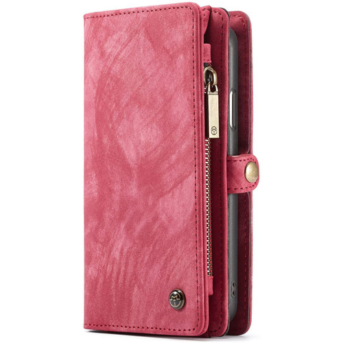 Red iPhone XR Stylish Multi-functional 2 in 1 Purse Wallet Magnetic Case - 1