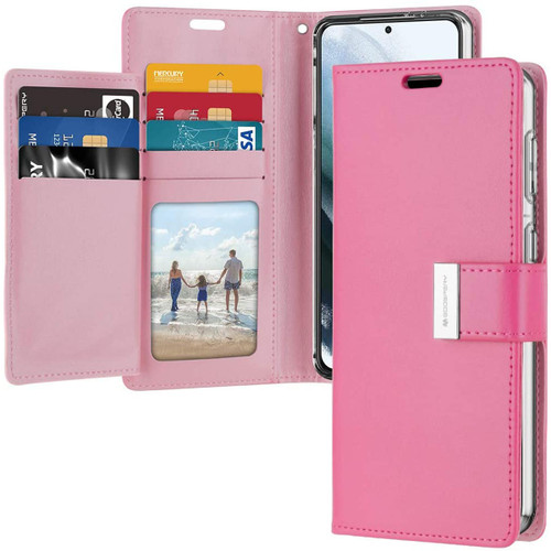 Hot Pink  Mercury Rich Diary Wallet Case Cover For Galaxy S21+ Plus - 1