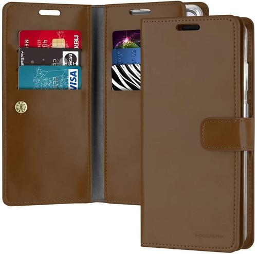 Vintage Brown Samsung Galaxy A72 Mercury Mansoor Wallet Case Cover - 1