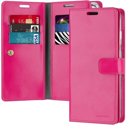 Stylish Hot Pink Samsung Galaxy A72  Mercury Mansoor Wallet Case Cover - 1