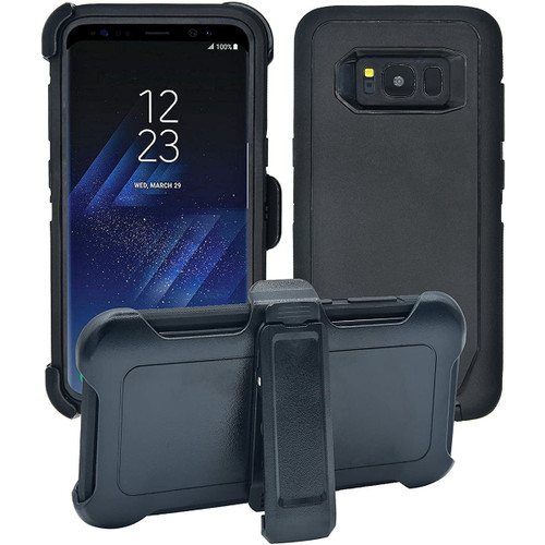 Heavy Duty Military Belt Clip Holster Case For Samsung Galaxy S8 - 1