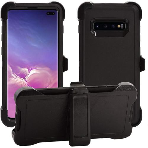 Samsung Galaxy S10+ Plus Tradies Full Body Heavy Duty Holster Case - 1