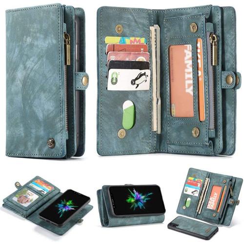 Blue CaseMe iPhone 6 / 6S Wallet Zipper Purse Removeable Magnetic Case - 1
