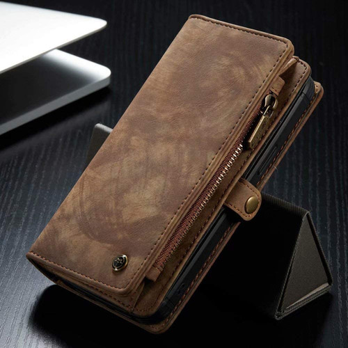 Vintage Brown 2 in 1 Wallet / Detachable Shock Proof Case for iPhone 12 / 12 Pro - 1