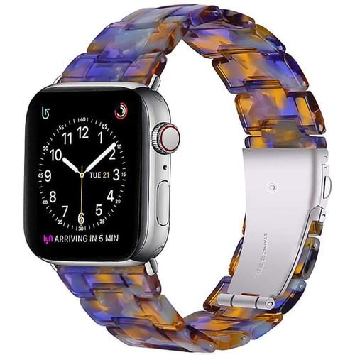 Ocean Blue Resin Waterproof Band for Apple Watch 1/2/3/4/5/6/SE (38mm / 40mm) - 1