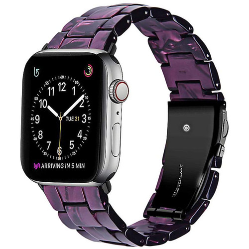 Stylish Purple Marble Resin Replacement Band for Apple Watch (42mm / 44mm) - 1