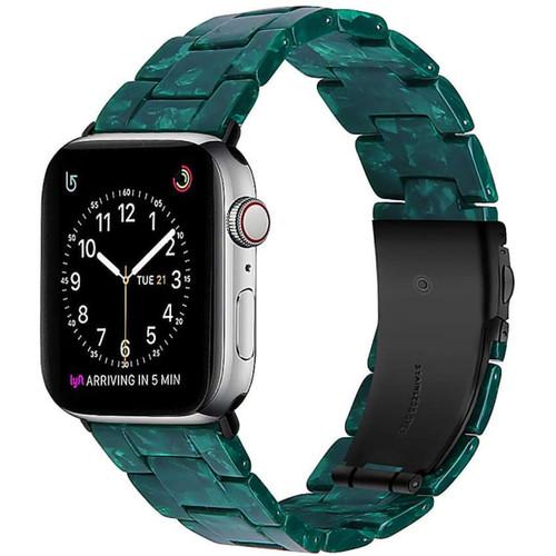 Green Flower Apple Watch (42mm / 44mm) Stylish Resin Waterproof Band Bracelet - 1