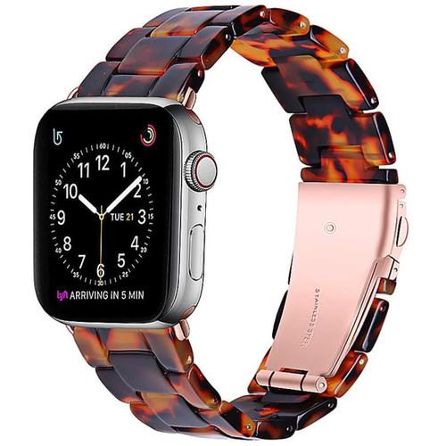 Tortoise Tone Resin Waterproof Band Bracelet for Apple Watch (42mm / 44mm) - 1