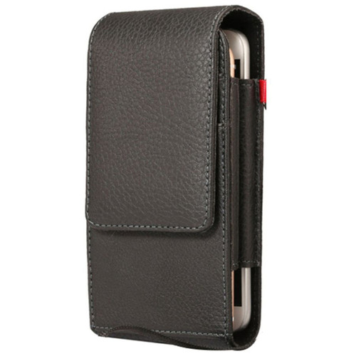 Universal Synthetic Leather Vertical Holster Case For iPhone 13  - 1