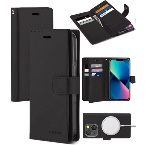 Black Mercury Mansoor Diary Card Holder Wallet For iPhone 13 Pro - 1