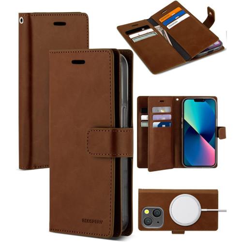 Brown iPhone 13 Mini Mercury Mansoor 9 Card Slot Wallet Case  - 1