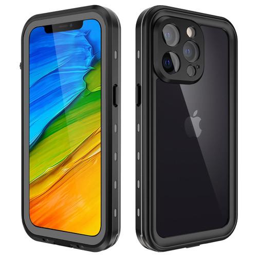 Black iPhone 13 ProWaterproof Underwater Shock Proof Case - 1