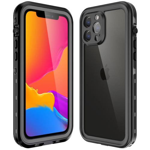 Black Waterproof Dirtproof Shock Proof Case For iPhone 13 Pro Max  - 1
