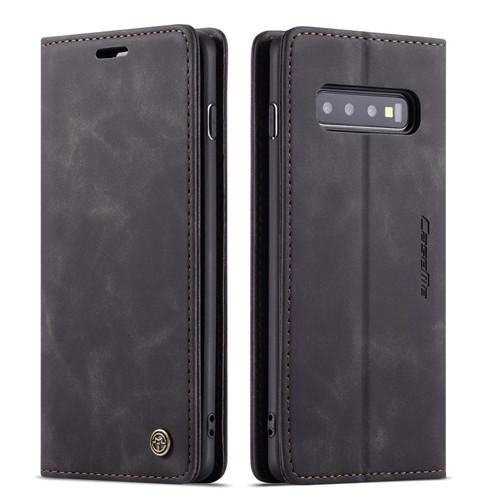 Black CaseMe Slim Magnetic Premium Wallet Case For Galaxy S10 5G - 1