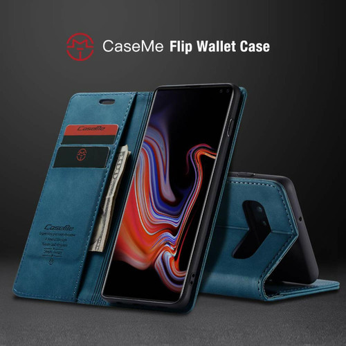 Exceptional Blue CaseMe Slim Compact Wallet Case For Galaxy S10 5G - 2