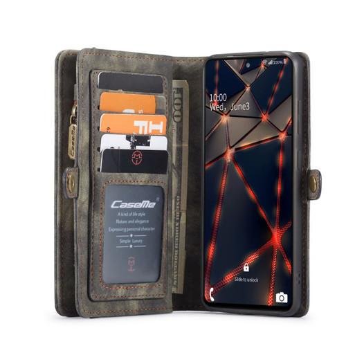 Black Galaxy S20 FE 2 in 1 Multi-Functional Wallet  Shock Proof  Case  - 1