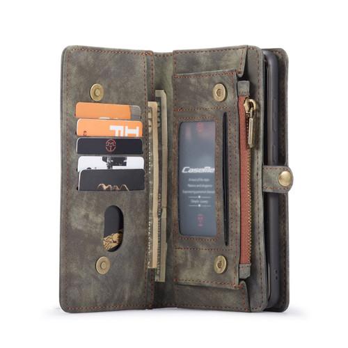 Black Galaxy S20 Ultra Multi-Functional 2 in 1 Zipper Purse Wallet Case - 1