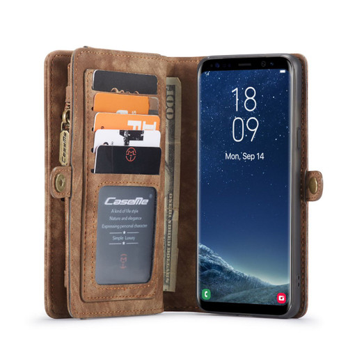 Brown Vertical PU Leather Holster Case with Belt Clip For Galaxy S8  - 1