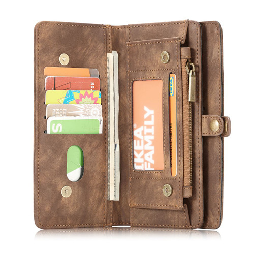 Brown CaseMe 11 Card Slot Wallet  Magnetic Case  For Galaxy S10+ Plus  - 1