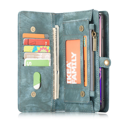Blue Multi-functional 2 in 1 Purse Wallet Magnetic Case For Galaxy S10 5G  - 1