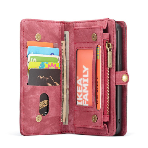Red Galaxy S9 Multi-Functional  Wallet Detachable Magnetic Case - 1