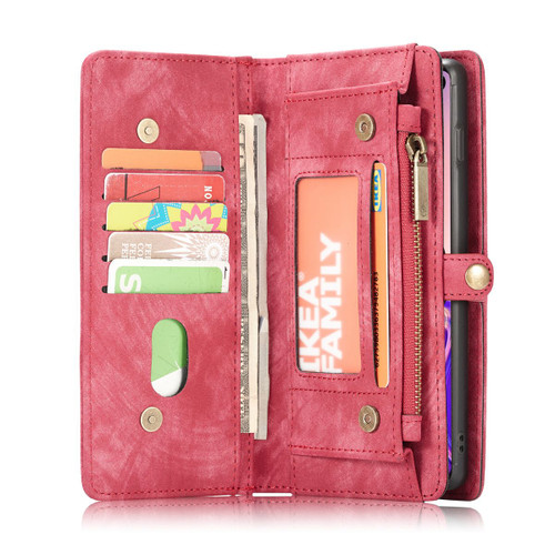 Red 2 in 1 Magnetic Retro Purse / Wallet Case For Galaxy S10+ Plus  - 1