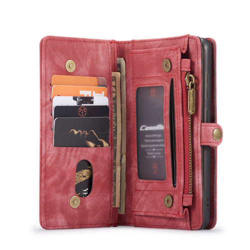 Red 2 in 1 Multi-Functional Wallet  Shock Proof  Case  For Galaxy S20 FE  - 1