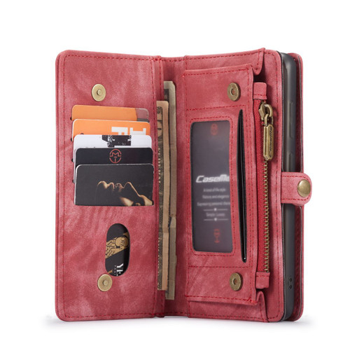 Red CaseMe 11 Card Slot Wallet  Magnetic Case  For Galaxy S20 Plus  - 1