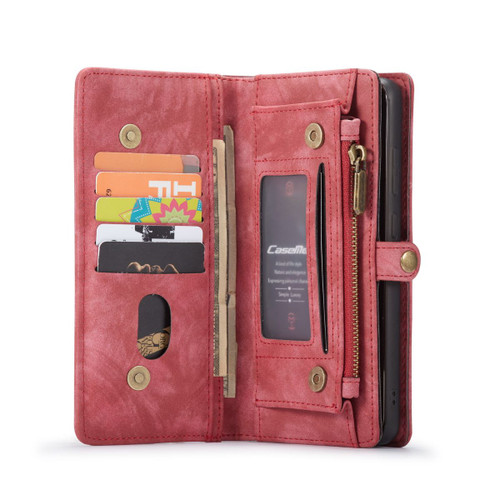 Red Galaxy S20 Ultra 2 in 1 Multi-Functional Wallet  Shock Proof  Case  - 1