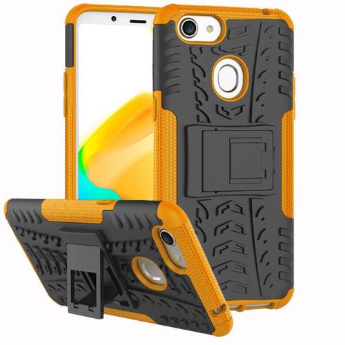 Orange Tradies / Builders Tough Hybrid Kickstand Case for Oppo A73 - 1