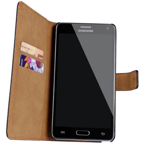 Premium Black Samsung Galaxy Note 3 Genuine Leather Wallet Case - 1